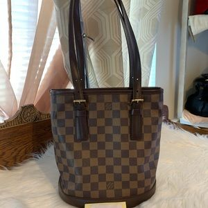Authentic Louis Vuitton Bucket Pm Damier Ebene